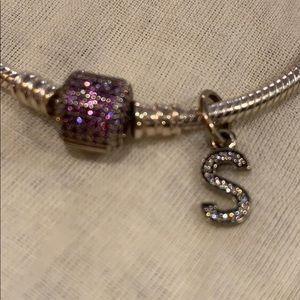 Pandora sparkling pave snake chain bracelet